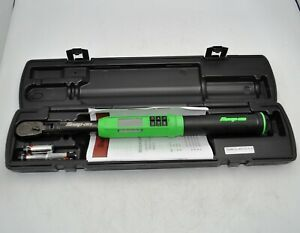 Snap On Techangle 3 8 Dr Electronic Torque Wrench 5 100 Ft lb Atech2f100vg