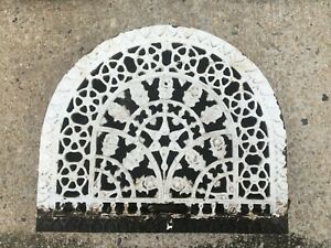 Antique Arched Top Heat Grate Wall Register Floral 11 X 14 Arch 244 19j