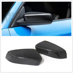 Carbon Fiber Mirror Cover For 2008 13 Ford Mustang Gt Coupe Side Caps Add On A