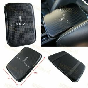 For Lincoln Embroidery Carbon Fiber Car Center Armrest Cushion Mat Pad Cover X1