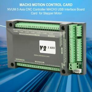 Nvum 5axis Cnc Controller Mach3 Usb Interface Card With Cable For Stepper Motor