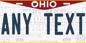 Ohio License Plate Personalized Custom Add Your Text