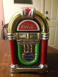 2002 Coca Cola Company Cookie Jar Juke Box By Gibson