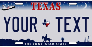 Texas License Plate Custom Add Text Personalized Space Shuttle Lonestar State