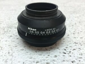 Nikon Lwd 0 65 Microscope Iris Only no Condenser Or Stage Good Condition