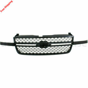 New For Chevrolet Silverado 1500 Front Grille Black Fits 2003 2006 Gm1200586