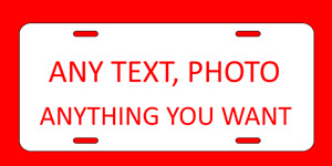 Personalized Aluminum Metal License Plate Customize With Text And Or Picture