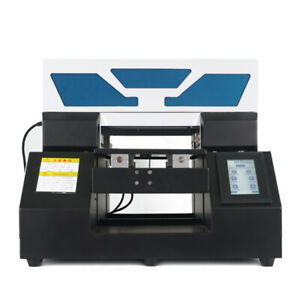 Uv Printer A4 Flatbed Cylindrical Signs Glass Metal 3d Rotation Embossed Effect