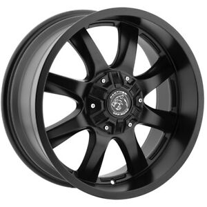 18x9 Flat Black Wheels Panther Off Road 578 5x5 5x5 5 12 Set Of 4