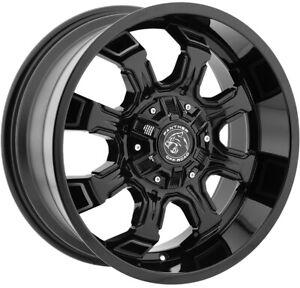 18x9 Black Machine Wheels Panther Off Road 579 6x135 6x5 5 0 Set Of 4