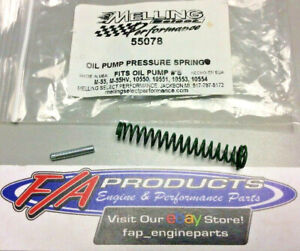 Melling 55078 Single Small Block Chevy 78 Lb Oil Pressure Relief Valve Spring