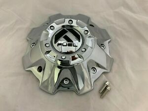 Fuel Chrome Wheel Rim Center Cap 1001 63 M 542 904 14 Rev M 447 With Screws