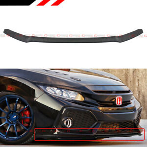 For 2017 19 Civic Hatchback Fk Si Hfp Style Front Bumper Lip Underbody Spoiler
