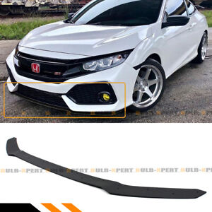 For 17 19 Civic Hatchback Fk4 Fk7 Si Hfp Style Front Bumper Lip Splitter Spoiler