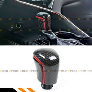 For 2018 2021 Toyota Camry Se Xse Le Xle Carbon Fiber Shift Knob W Red Strip