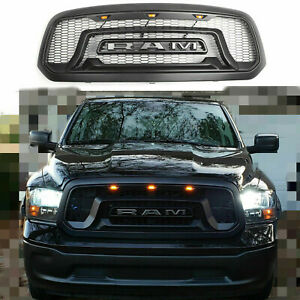 Grille For 2013 18 Dodge Ram 1500 Abs Honeycomb Rebel Style Bumper Grill Mesh