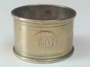 Hefty 1884 Antique English Victorian Sterling Silver Napkin Ring 23 8 Grams