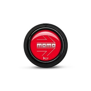 Momo Steering Wheel Horn Button Flush Mount Red With Arrow Logo Horn sm red