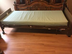 Used Great Condition Invacare Hospital Bed Full Electric With Gel Overlay