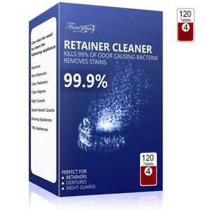 Retainer Cleaning Tablets 120 Tablets 4 Months Supply Mouth Guard Cleaner I