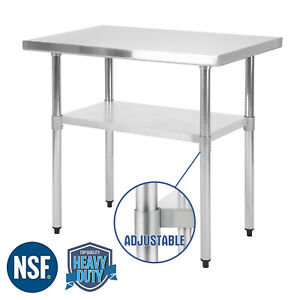 Commercial Heavy Duty Food Prep Work Table Kitchen 24 x36 Stainless Steel Nsf
