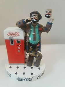 Emmett Kelly Clown Coca-Cola figurine