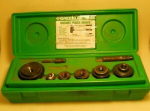 Greenlee 1806 Ratchet Punch Driver Kit 1 2 Thru 2 Shop Tools