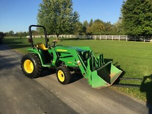 2012 John Deere 3032e Compact Tractor With Loader Forks And Attachments