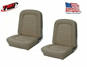 1966 Mustang Front Bucket Seat Upholstery Pair Parchment By Tmi In Stock