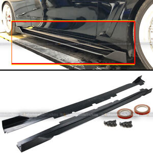 For 17 19 Infiniti Q60 2dr Coupe Polyurethane Jdm Vip Style Side Skirts Spoiler