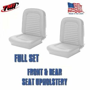 1964 1965 Mustang Front And Rear Seat Upholstery White Vinyl By Tmi In Stock