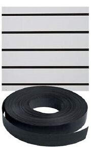 Vinyl Inserts Slatwall Panel Black Shelving Display 130 Ft 3 Rolls Decorative