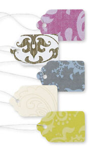 Price Tags 2500 Assorted Damask Paper 1 X 1 String Merchandise Pre Strung