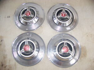 1964 Plymouth Sport Fury Hubcaps Oem Set Of 4 14
