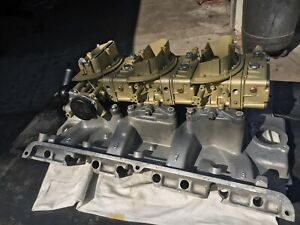 Bb Vintage Ford Tri Power Intake And Carbs