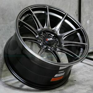 17x7 5 Chromium Black Wheels Xxr 527 5x100 5x114 3 40 Set Of 4