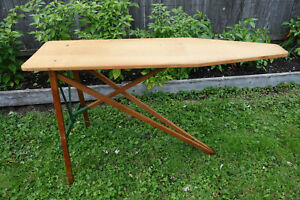 Vintage Wooden Folding Ironing Board Antique Wood