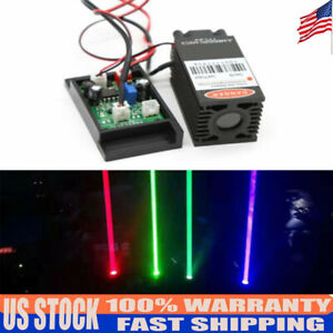 450nm 2000mw Blue Laser Module With Driver Board With Ttl Driver Board Focusable