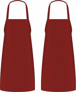 Pack Of 2 Cooking Apron For Men Women Kitchen Bib Aprons 32 X 28 Utopia Kitchen