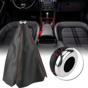 Leather Gear Stick Shift Knob Cover Boot Gaiter Cover Fit Universal Manual Car