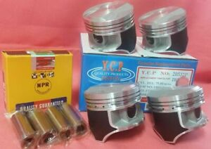 Ycp P29 75mm Std Teflon Coated Pistons High Compression Npr Rings Honda D16