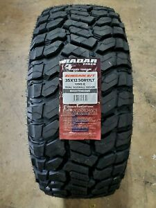 35x12 50r17lt Radar Renegade R T 10ply 125q Load E 65psi Set Of 4