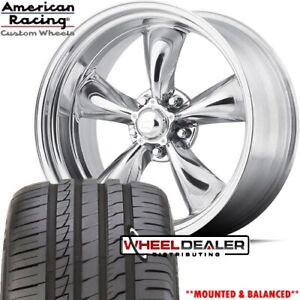 17x7 17x8 American Racing Vn515 Torque Wheels Tires For Mustang 1965 1968