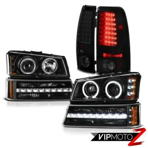 03 04 05 06 Chevy Silverado 2500hd Taillights Black Signal Lamp Headlights Led