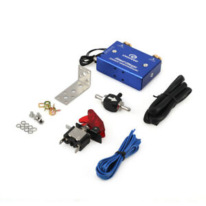 Dual Stage Electronic Turbo Boost Controller Psi Turbocharger W Switch Kit Blue