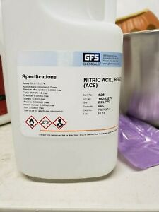 Gfs Chemical Nitric 70 Acid 2 5 Liter High Purity Hno3 Gold And Silver Refining