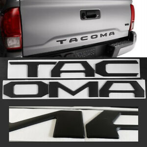 3d Raised Matt Black Emblem Badge Letters For 16 19 Toyota Tacoma Tailgate