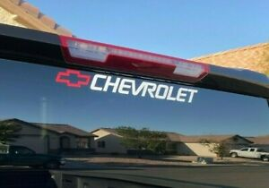 Chevy Window Decal Tahoe Sticker Colorado Windshield Graphics Chevrolet Bow Sign