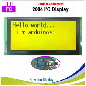 Serial Iic I2c Twi 2004 204 20 4 Largest Character Lcd Module Display