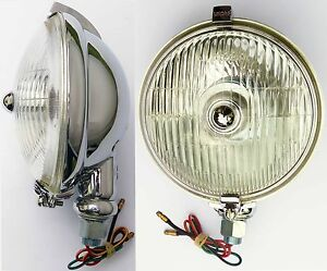 Lucas Sft576 Chrome Fog Light Fog Lamp For Classic Car Mg Triumph Mini Etc